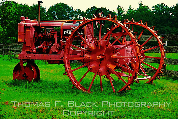 Tractors, Farm Implements ~ Old, rusted, derelict and abandoned.